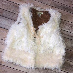 Little Mass faux fur vest